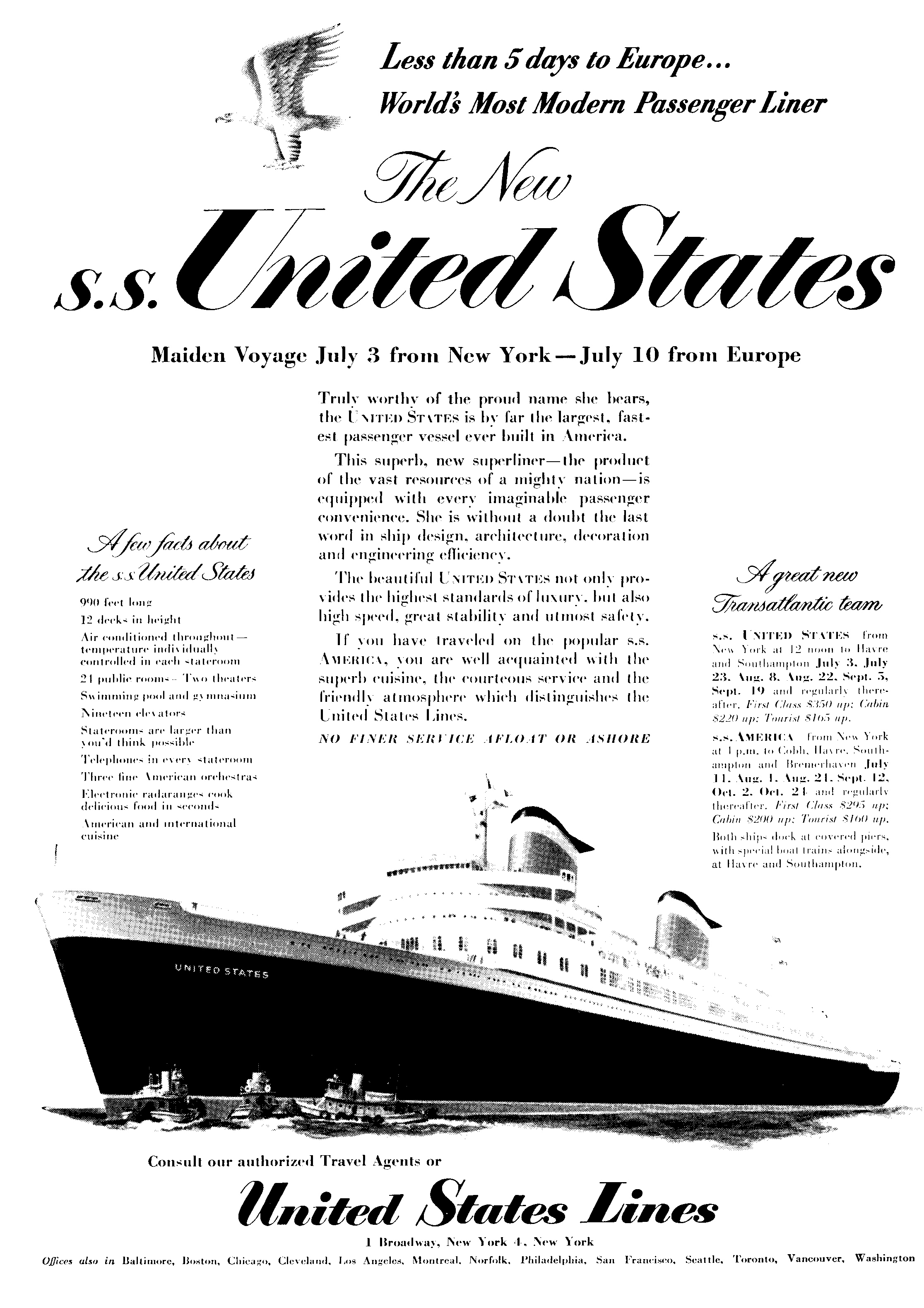 Ss United States Engine Room: Five Nights At Sea