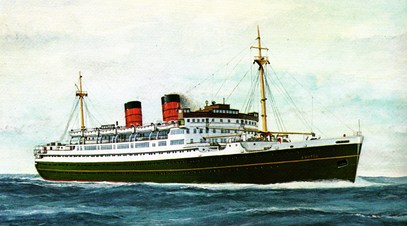 Cruise Ship History Union Steams Luxurious TSS Awatea Was - 1930s cruise ships