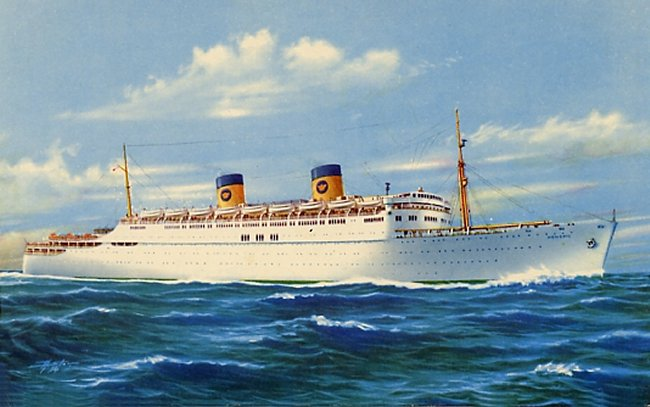 Cruise Line History Home Lines SS HOMERIC Cruise To Barbados - Homeric cruise ship