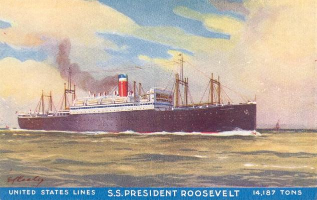 Shipboard Celebrities Aboard The United States Line S Ss