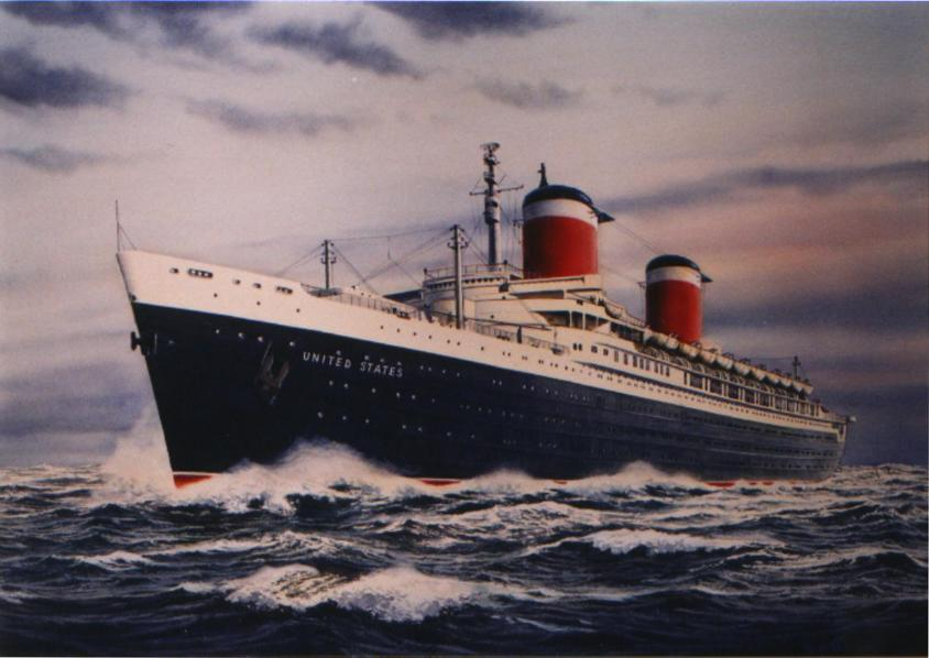 Cruise Ship History U2013 The SS United States. The Fastest Liner Ever Built. Video Of Celebrities ...