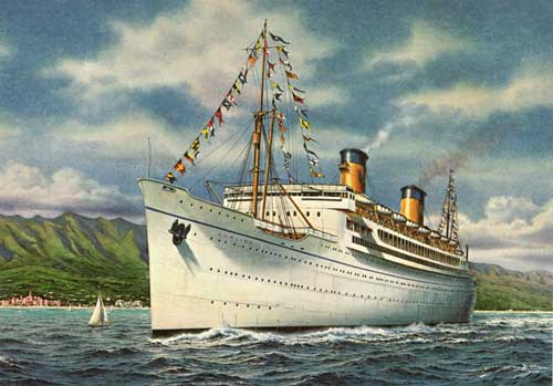 Cruise Ship History This Is MGMs S Musical HONOLULU Aboard - 1930s cruise ships