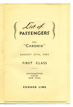 When Ships Had Passenger Lists CRUISING THE PAST - List of cruise ships