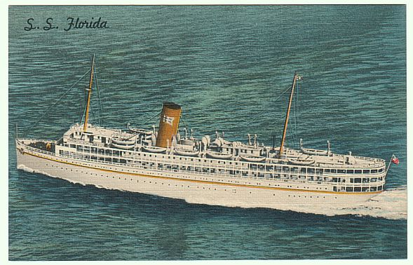 Ss Florida Miami Florida To Havana Cuba 42 Per Person Cruise During The 1940s Cruising