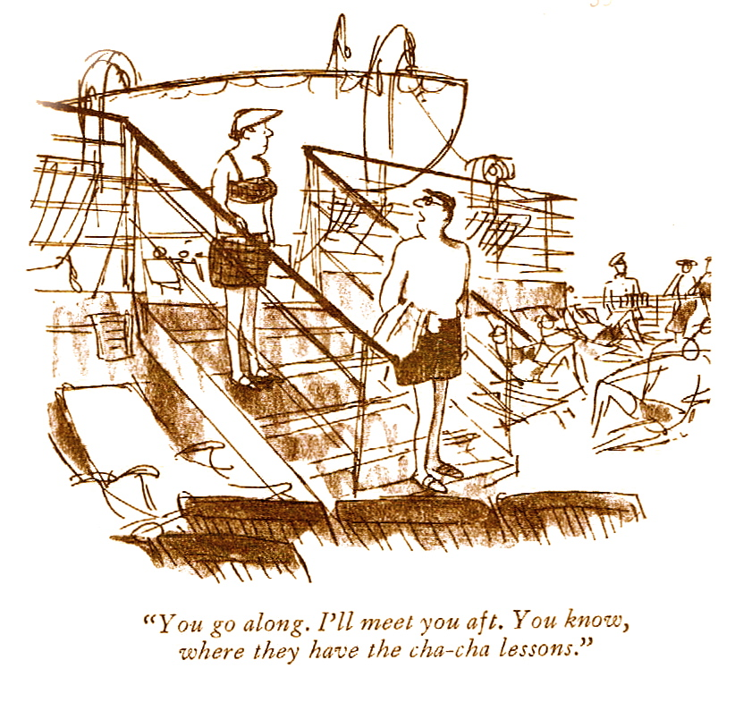 Sophisticated New Yorker Cartoons On Cruising Cruising The Past