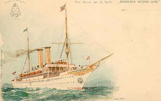 The Prinzessin Victoria Luise Worlds First Cruise Ship - First cruise ship in the world