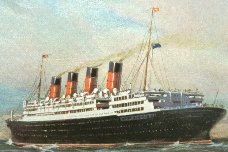London In 1913 Crossing The Pond On The Rms Aquitania