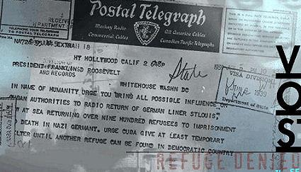 טלגרמה לפ.ד. רוזוולט לעזרת פליטי הסיינט לואיס