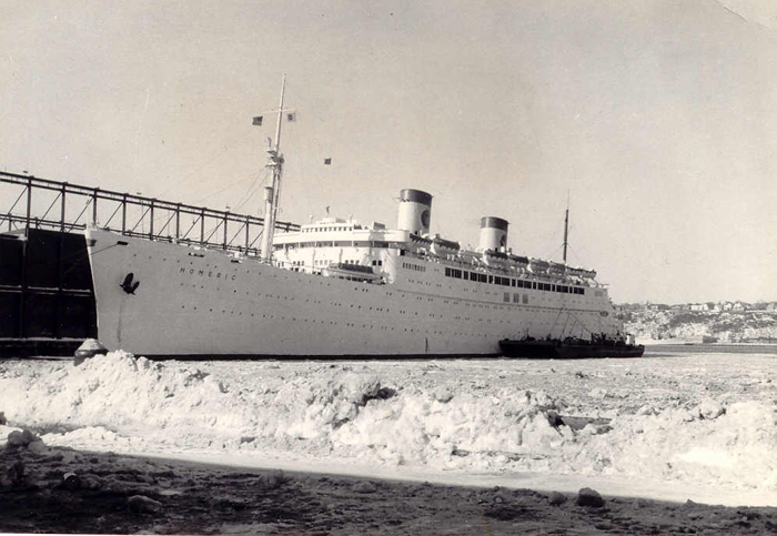SS HOMERIC IN THE S CRUISING THE PAST - Homeric cruise ship