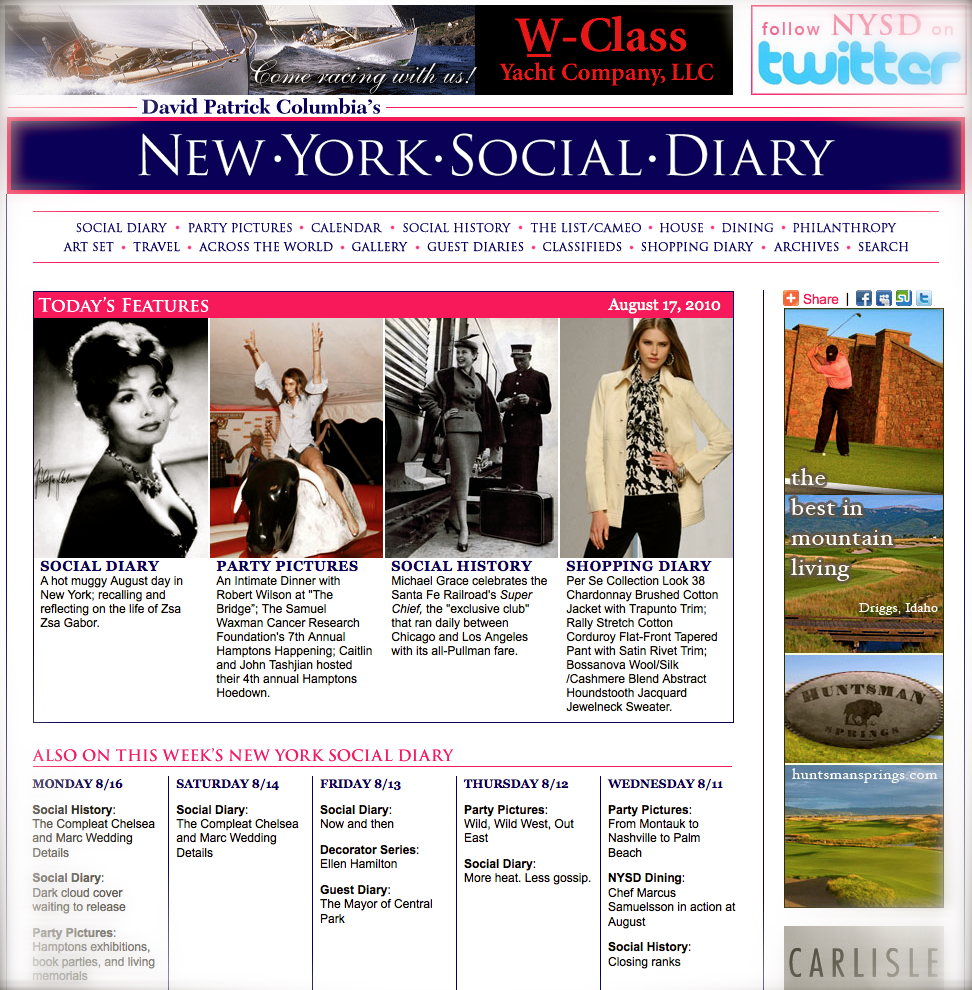 new york social diary features the train of the stars the super chief cruising the past. Black Bedroom Furniture Sets. Home Design Ideas