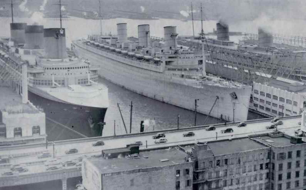 ss normandie and rms queen mary during world war 2 cruising the past. Black Bedroom Furniture Sets. Home Design Ideas
