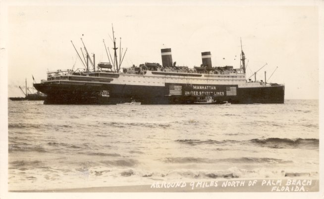 Ss Manhattan Aground Off Palm Beach