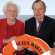 President and Mrs. George H. W. Bush cross the Atlantic
