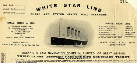 Immigrants Steerage White Star Line Third Class Rms