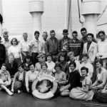 Student group visiting Europe aboard the Arosa Kulm from Minneapolis, Minnesota. in the 1950s.