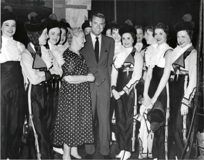 Cary Grant with the Rockettes -