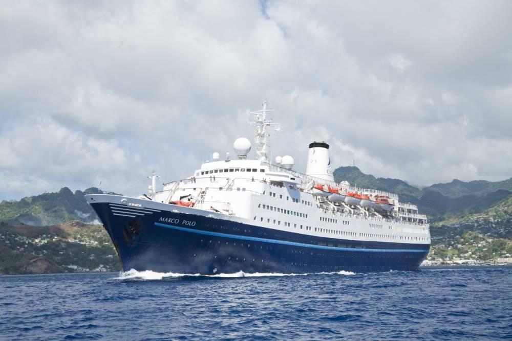 Cruise ship Marco Polo at Sea.