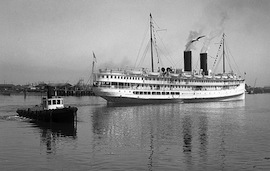 SS HARVARD – California's night boat from Los Angeles to San Francisco went aground in 1931…
