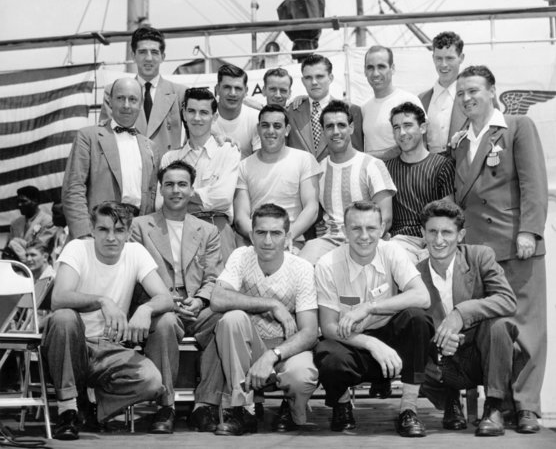 USA Olympic Soccer Team aboard the 1948 SS America.