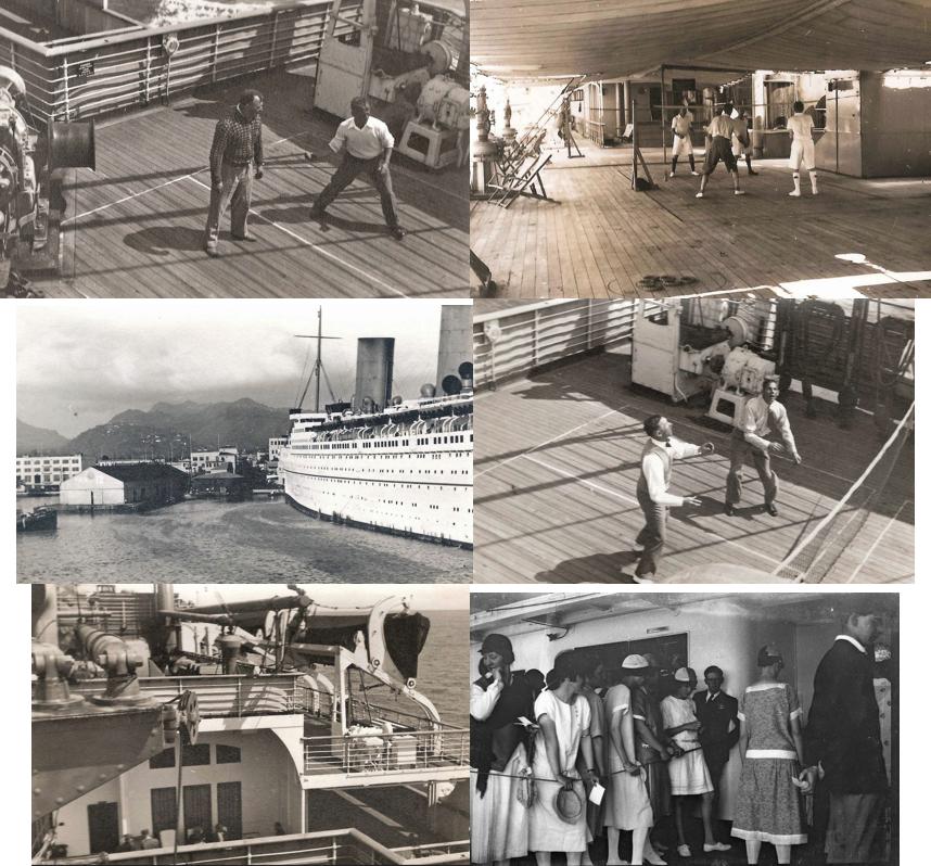 Aboard the RMS EMPRESS OF CANADA - 1930s... (Shipboard & docked in Honolulu)