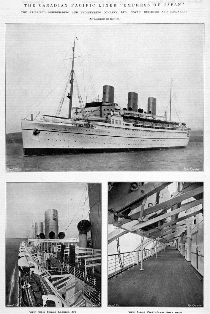 The RMS Empress of Japan