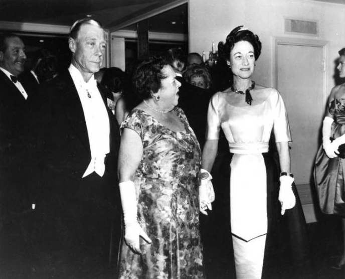 Elsa with the Duke and Duchess of Windsor.