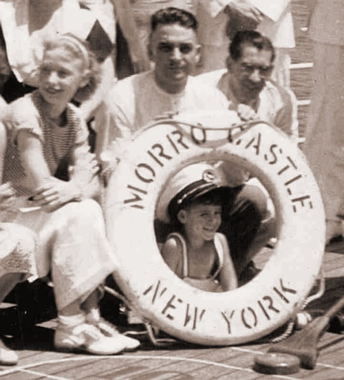 Passengers aboard the SS Morro Castle.
