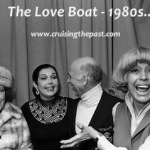 "Major Broadway Stars -Ethel Merman, Ann Miller and Carol Channing with ""Captain"" Gavin MacCloud ready to film LOVE BOAT 2-Hour special in the 1980s."