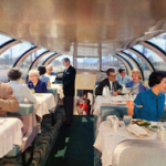 Dining aboard the CITY OF LOS ANGELES - 1960s. www.cruisingthepast.com