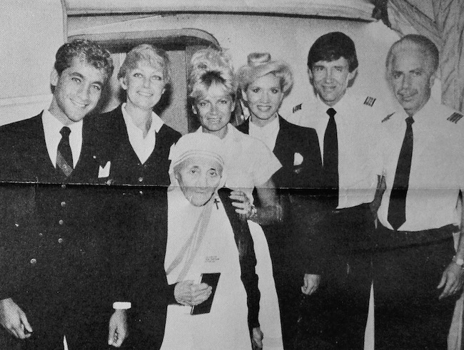 1980s - Mother Theresa with Pan Am crews...
