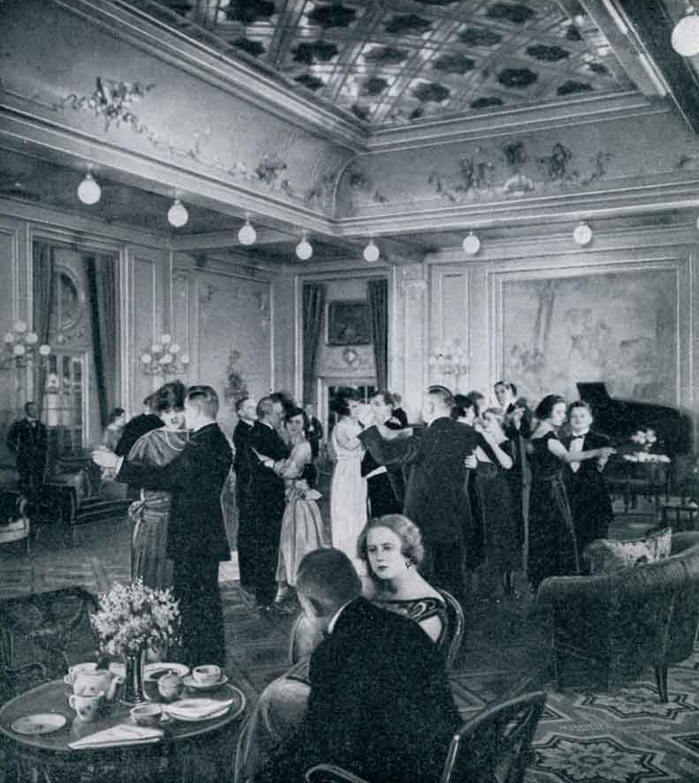 Dancing in the First Class Lounge - SS Columbus. 1920s...