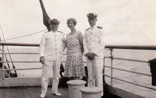 The SS Monterey sailing to the South Seas in the 1930s…