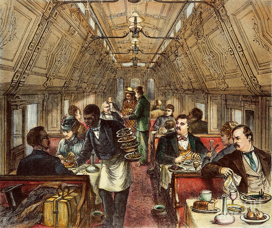 Pullman's first dining car...1877