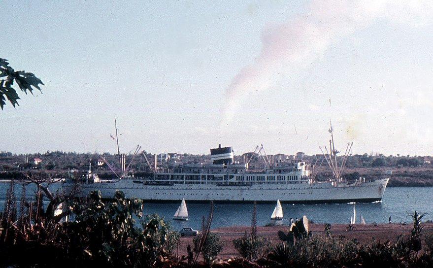 SS Kenya arriving Mombassa... 1960s...