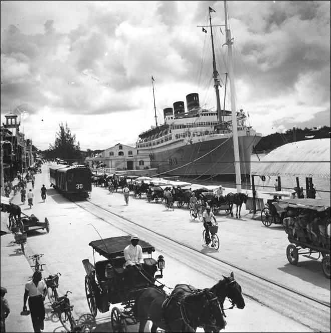 RMS Queen of Bermuda. She's docked in Hamilton, Bermuda.