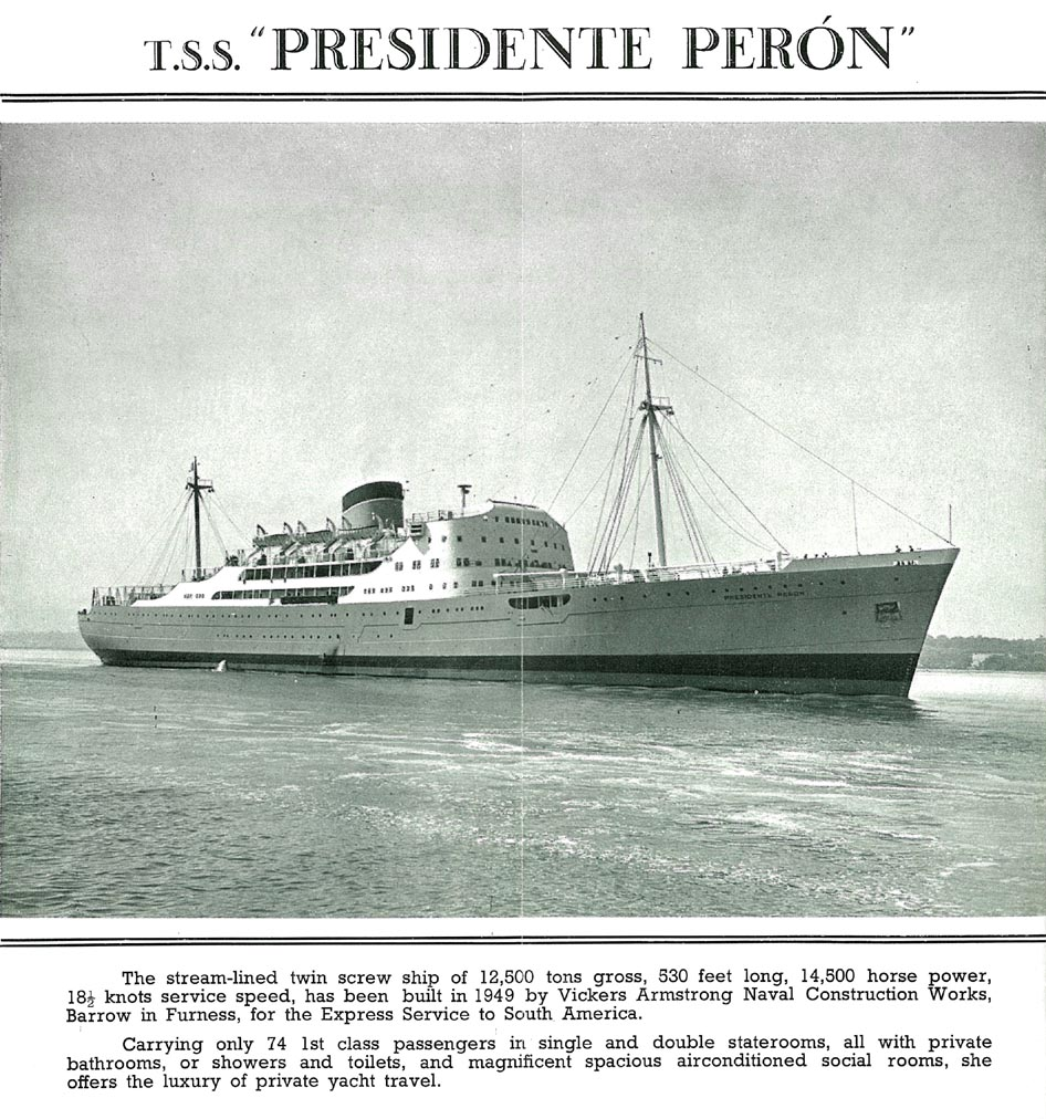 T.S.S. Presidente Peron (T.S.S. Eva Peron was sister-ship)