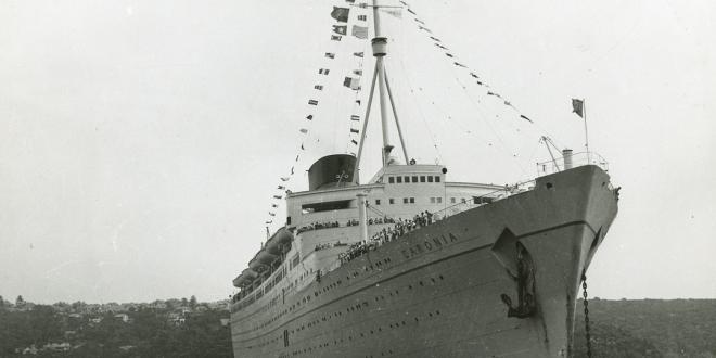 Cunard Line's RMS CARONIA…