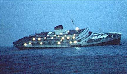 Andrea Doria sinking...