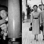 Actors Laurel and Hardy... and the Duke and Duchess of Windsor on the RMS QUEEN MARY...