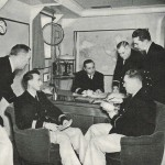 Officers aboard the SS DeGrasse...