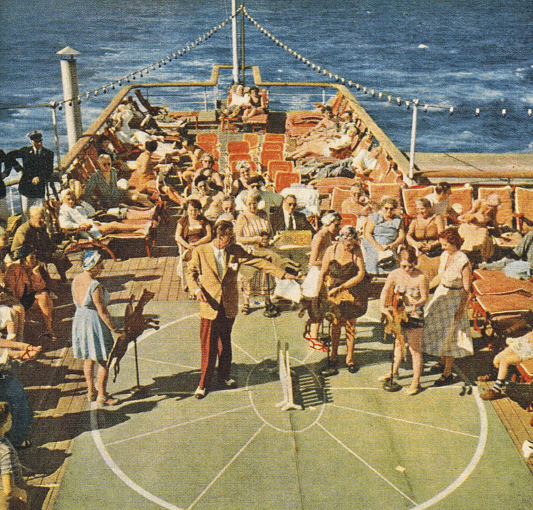 Summer sailing across The Pond aboard SS De Grasse... from New York to Europe...