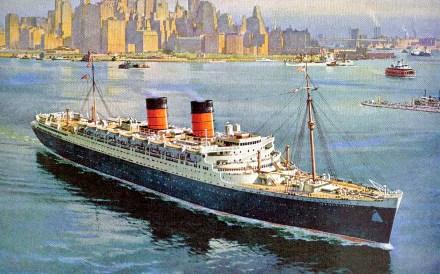 The RMS MAURETANIA...