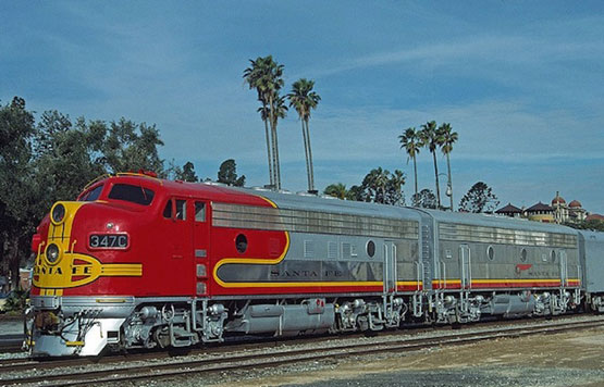 The SUPER CHIEF in Pasadena, California after arriving from Chicago.