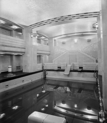 First Class swimming pool on the RMS Queen Mary...