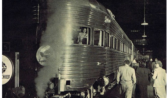 "THE SUPER CHIEF – ""THE TRAIN OF THE STARS"" from Clark Gable to Frank Sinatra…"