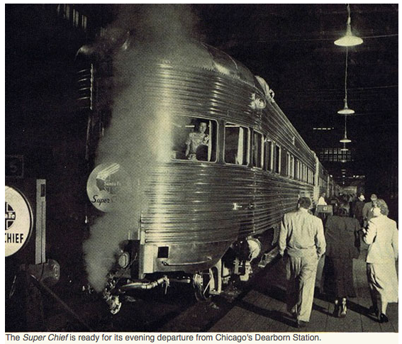Super Chief dining car in the late 1930s.