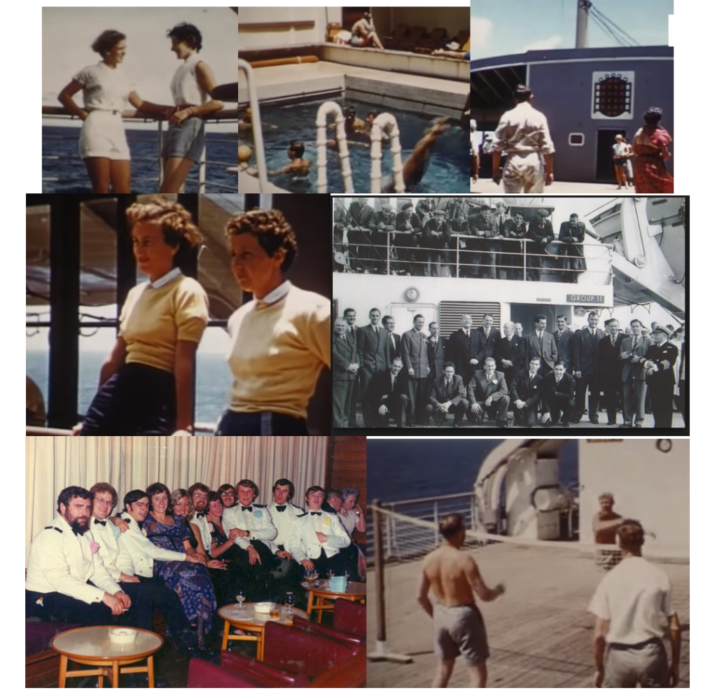 Passengers and Officers - enroute from the UK to Australia during the 1960s and 1970s...