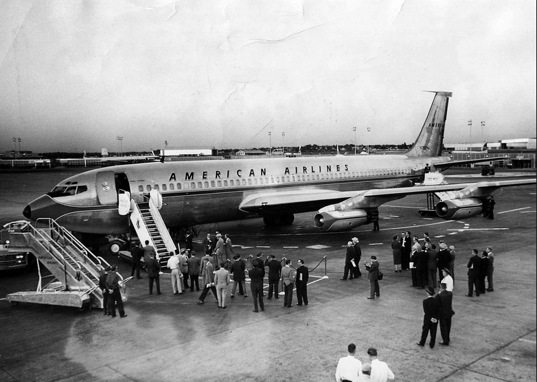 Lift off for American Airlines in the heyday of travel..,