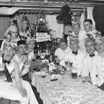 German cruise ship's stewards getting drunk on Christmas Day - early 1930s...