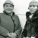 Gertrude Stein and Alice B. Toklas arriving in New York aboard the French Line's SS Champlain in 1934.